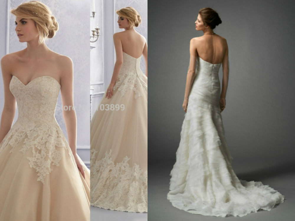 Backless sweetheart mermaid wedding dresses 2017