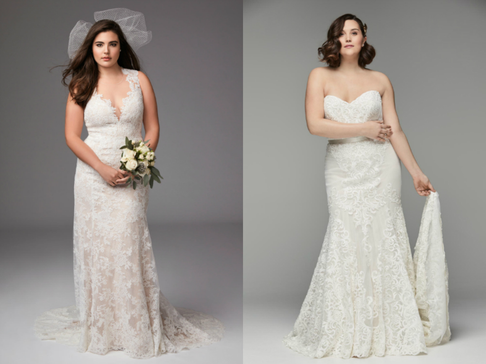 Plus size mermaid wedding dresses Lace