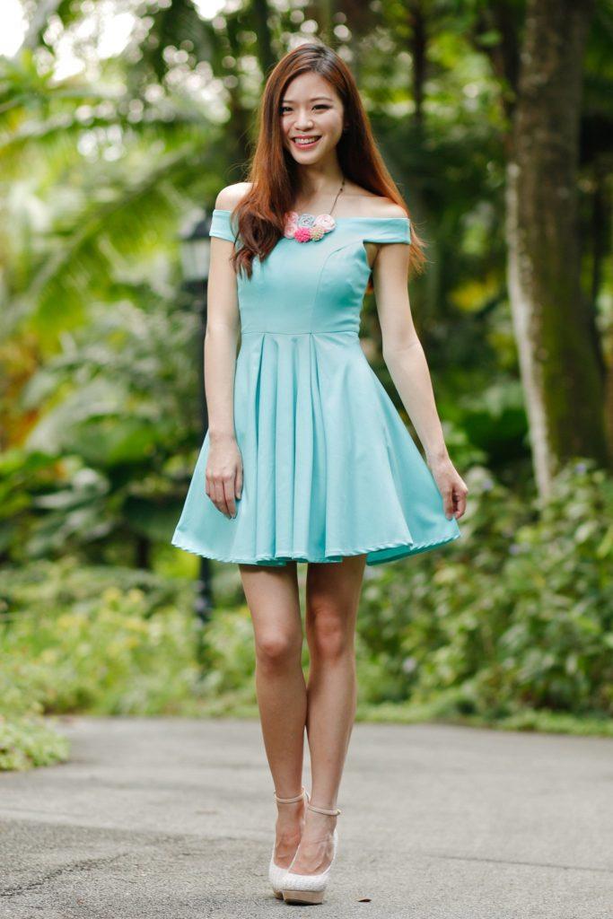 Short One Shoulder Bridesmaid Dress