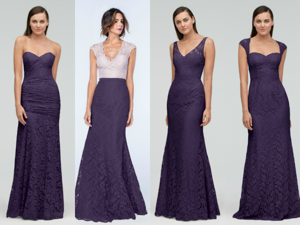 purple mermaid bridesmaid dresses 2018