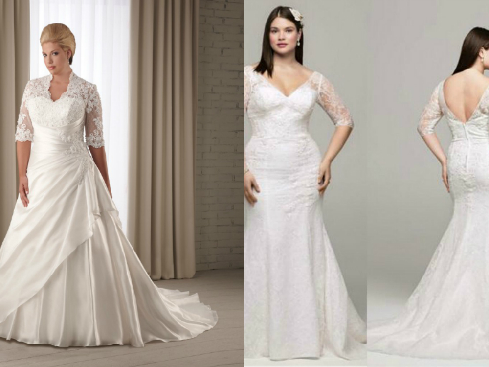 Plus Size Wedding Gowns With Sleeves: Plus Size Mermaid Wedding Dresses With Sleeves